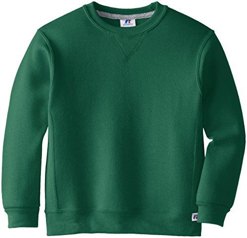 Russell Athletic Athletic Big Boys' Fleece Crew, Sweatshirt-dark green, M