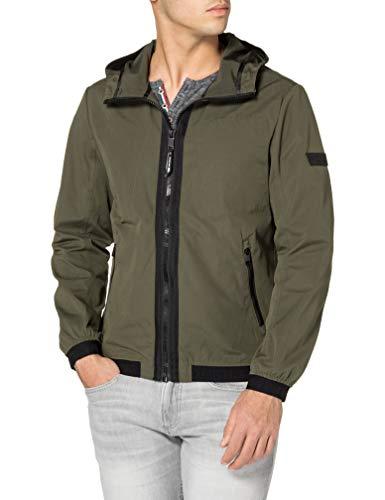 TOM TAILOR Denim Herren 1024400 Basic Jacke, 10373-Woodland Green, L