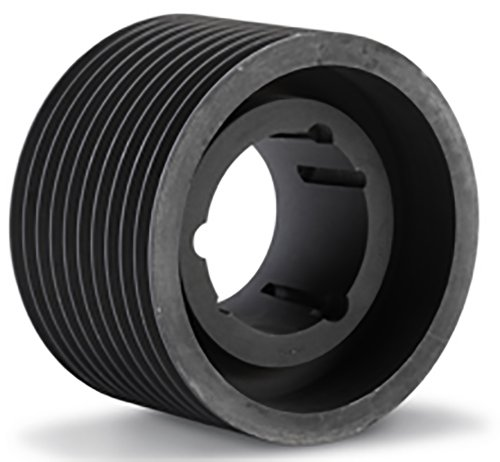 PVJ67X8.1108 Ametric Poly V Pulley, Metric J Profile, 8 Grooves, 67 mm Pitch Diameter, Bored for a 1108 Taper Lock Bushing, (Mfg Code 1-023)
