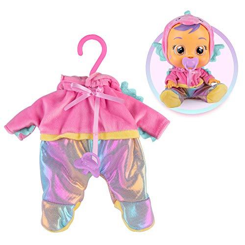 BEBES LLORONES Fantasy - Pijama de Amigo Marino rosa con chupete, ropa para Bebé Llorón
