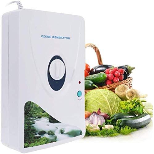 Ozonizador,Generador de ozono doméstico para eliminar olores ozonizados Agua Purificadores de aire Ozonizador para frutas y verduras Esterilizador de alimentos Purificador de aire (600mg / h