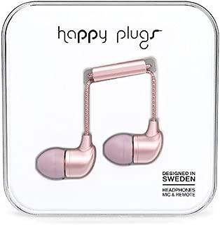 happy plugs(ハッピープラグス) In-Ear New Deluxe Edition カナル型イヤホン スウェーデンブランド 女性向け ギフトに最適 音符マークケース リモコン・マイク付 通話可能 iOS/Android対応 Siri対応 ピンクゴールド 【国内正規品】IN-EAR-PINK-GOLD7836