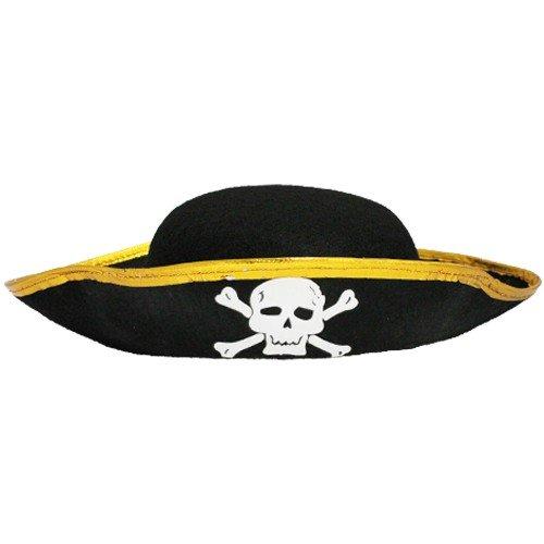 Sombrero ovalado de pirata, para niños.
