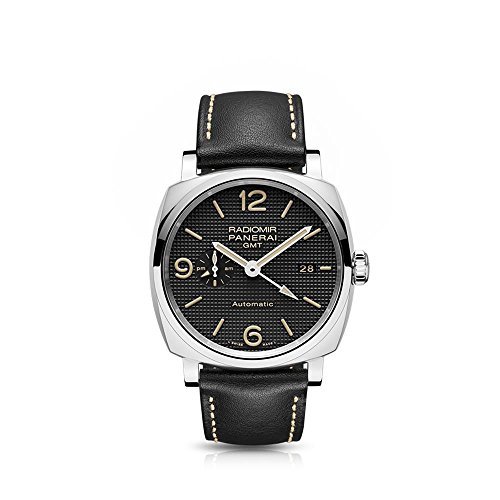 Panerai Men's Radiomir 1940 45mm Black Leather Band Steel Case Sapphire Crystal Automatic Watch PAM00627