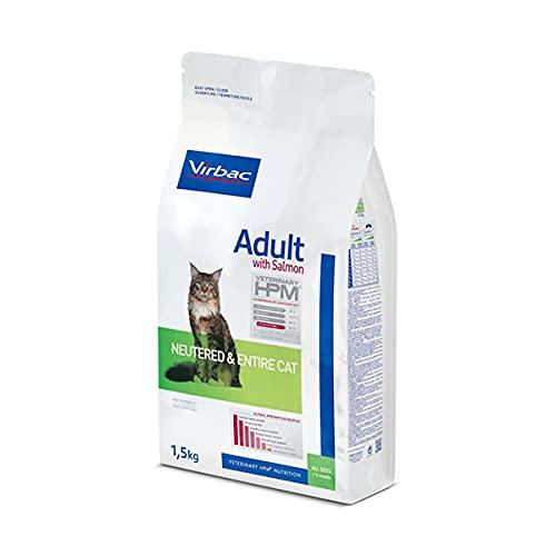 Virbac Veterinary HPM Vet Cat Ad Neutered Saumon Nourriture pour Chat 7 kg