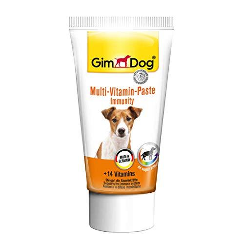 GimDog Multi-Vitamin-Paste - Funktionaler Hundesnack mit 14 Vitaminen steigert die Abwehrkräfte - 1 Tube