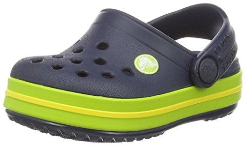 Crocs Crocband Clog K, Zoccoli Unisex-Bambini, Blu (Navy/Volt Green), 27/28 EU