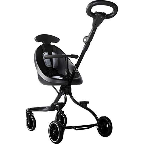 Review ZL Baby Stroller, High Landscape Baby Pram Lightweight Folding Children Two-Way Four-Wheel Sh...