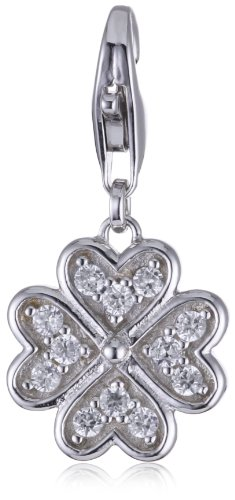 ESPRIT Anhänger Charm Glam Luck 925 Sterling Silber S.ESZZ90851A000