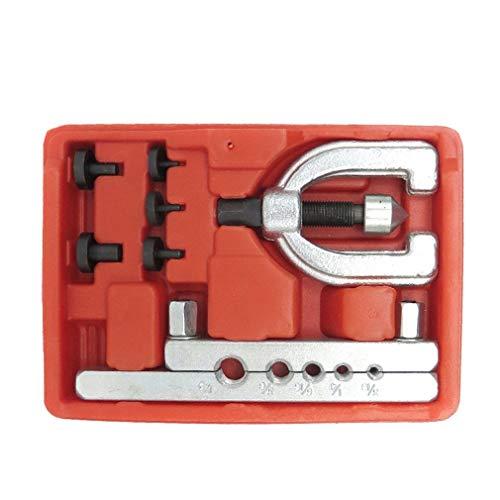 IUEFINUEN Metric Doppel Abfackeln Bremsleitung Tool Kit Rohr Abfackeln Kit Bremsspritschlauch-Reparatur-Flare-Werkzeug-Set for Automotive Bremsleitung