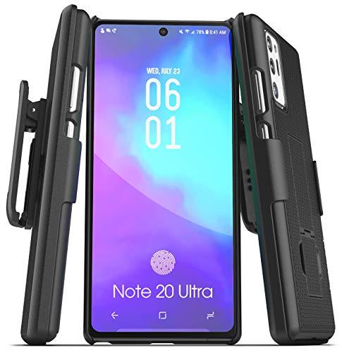 Capa Encased para Galaxy Note 20 Ultra Belt Clip (2020 DuraClip) Capa fina com coldre para Samsung Note 20 Ultra Phone - Preto