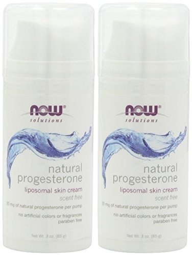 NOW Natural Progesterone Balancing Skin Cream - 3 oz. x 2 Bottles