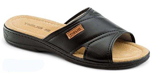 tiglio Pantofole-Ciabatte Uomo 801 Nero (43)
