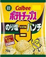 カルビー ポテトチップス のり塩トリプルパンチ 70g X1箱(12袋)