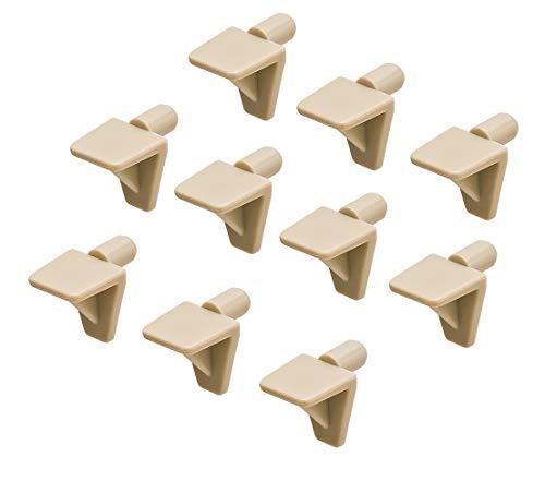 Gedotec plankhouder voor montage plankdragers keuken plankhouder voor inbouw - H3143 50 Stück Kunststoff Beige
