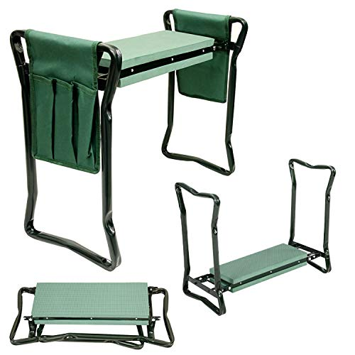 U.S. Garden Supply Foldable Garden Kneeler and Seat with 2 Tool...