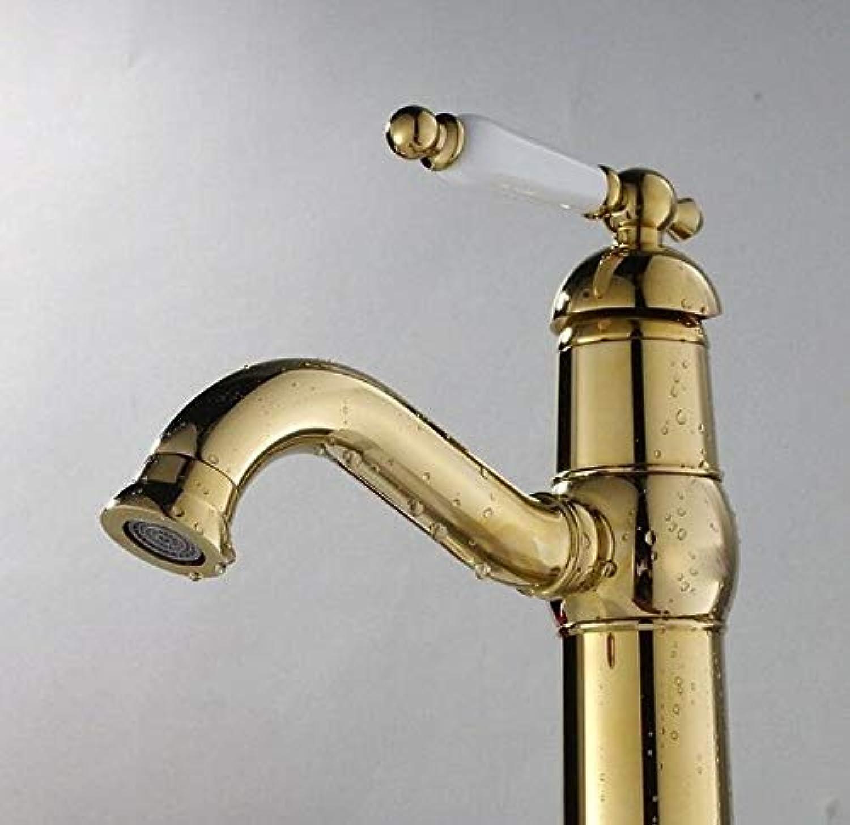 Bad Wasserhahn Kupfer Hei Und Kalt Spülbecken Wasserhhne Küchenarmatur VerGoldete Kupfer Sitzend Badezimmer Wasserhahn