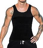 LaLaAreal Hombres Body Shaper Chaleco Reductor Adelgazantes Camisa De Compresión Pecho Abs Abdomen Slim Tank Top Camiseta Corsés Deportivos