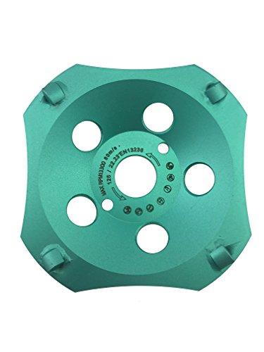 PRODIAMANT Profi PKD Diamant-Schleiftopf 125 mm x 22,2 mm 4 Segmente Diamantschleiftopf PDX829.793 125mm passend Winkelschleifer