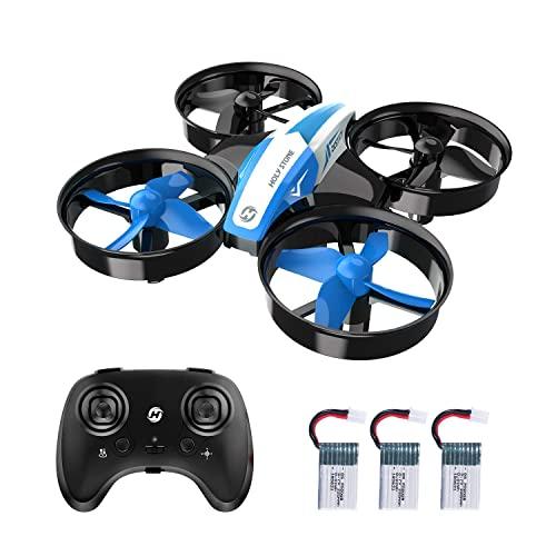 Mini drone for bambini e principianti Rc. Nano Quadcopter Piccolo aereo for elicottero da interno con auto in bilico automatico 3D Flip Modalità indoeuropea e 3 batterie Great regalo giocattolo for ra
