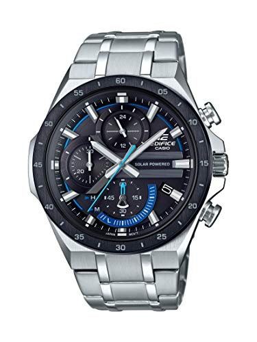 Casio Men's Edifice Quartz Watch with Stainless-Steel Strap, Silver, 28.5 (Model: EQS-920DB-1BVCR)