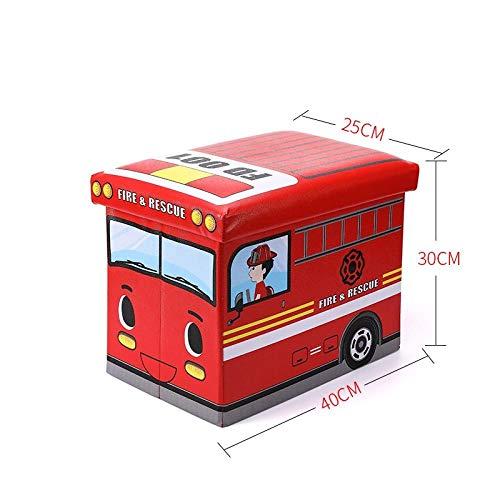 ZXXFR Wasverzamelaar, opvouwbare wasmand, kinder- Red Fire Truck-vak, waterdicht, draagbaar, opvouwbare wasmand, grote opslagcapaciteit vuile kleding en andere