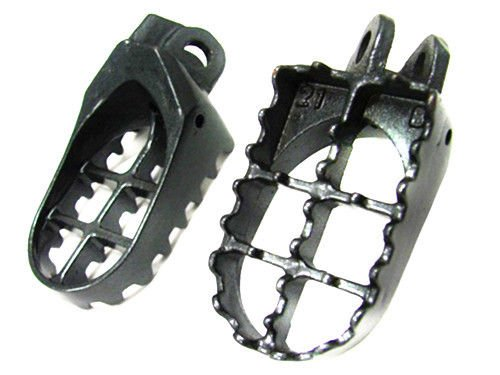 Grau MX Fußrasten FOOTPEGS für KLX 400 RM125 RM 250 DRZ 400 DR-Z400