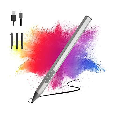 Pen para Surface, Lápiz óptico Magnético 4096, Sensibilidad a la Presión con Botón de Borrador, Rechazo e Inclinación de la Palma Compatible con Surface Pro Go Book Laptop Studio Series