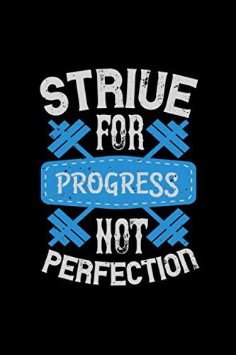 Fitness Trainer Notizbuch strive for progress not perfection: Fitness Notizbuch und Notizheft Din A5 mit 120 linierten Seiten