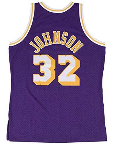 FMSports Camisetas De Baloncesto Retro para Hombres - NBA Lakers # 32 Earvin Johnson Uniforme De Baloncesto Tela Transpirable Fresca Camiseta Clásica De Chaleco,L~175cm/75~85kg