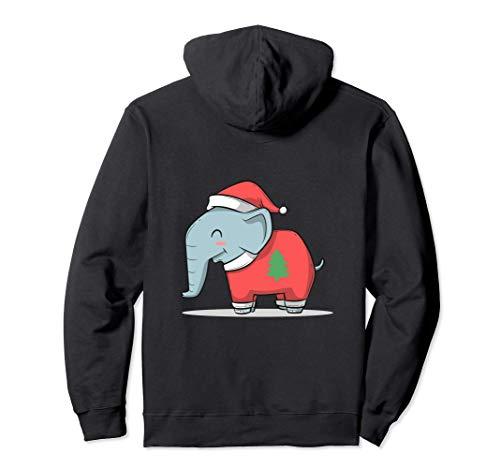 Elefante africano di Bush di Natale Felpa con Cappuccio