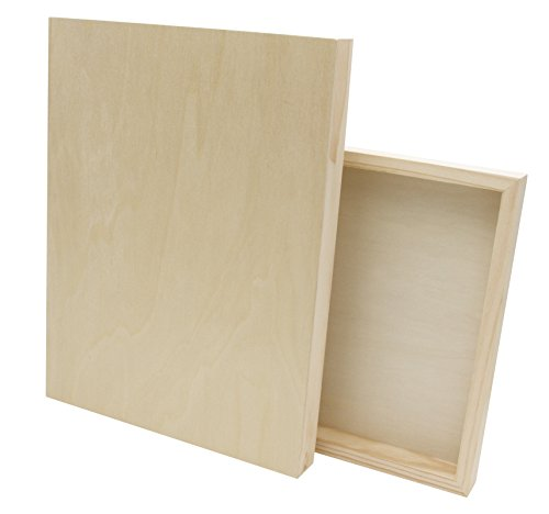 Paintersisters Malgrund aus Holz, 2 Stück je Größe 30 x 40 cm