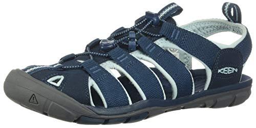 Keen Damen Clearwater CNX Sandale, Dunkelblau Hellblau Grau, 40 EU