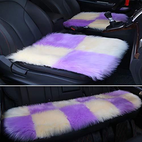 Faux bont schapenvacht zijdeachtige stoel kussen, auto Decor lange wol gebied tapijten tapijt, zacht pluizig pluche stoel kussens Universal Fit voor 2 vierkante pad, 1 achterbank kussen