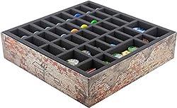 Set di schiuma Feldherr per 'This War of Mine' - Ordina e proteggi il materiale di gioco della scato la centrale della scatola di gioco originale! Il set contiene: 1 vassoio in schiuma con 36 scomparti per miniature e gettoni, 1 vassoio in schiuma co...