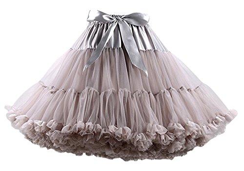 FOLOBE Tutu Costume Donna Balletto Danza a più Strati Gonna a Pieghe Adulto Lussuoso soffice Chiffon Petticoat Tulle Tutu Gonna