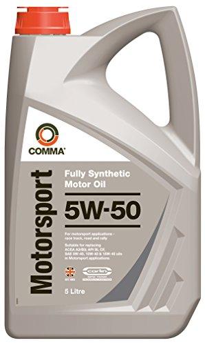 Comma MS5L Motorsport - Aceite sintético de Motores de vehículos de competición (5 l, 5W-50)