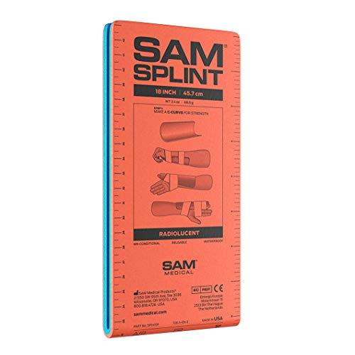 SAM Splint Junior 18 Flatfold Orange/Blue by SAM Medical