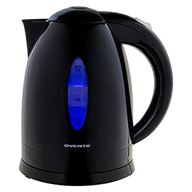 Ovente KP72B Electric Kettle, Illuminated, Black