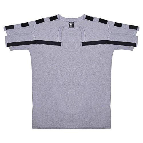 Post Shoulder Surgery Recovery & Rehab Shirt with Stick On Fasteners (L, Grey)