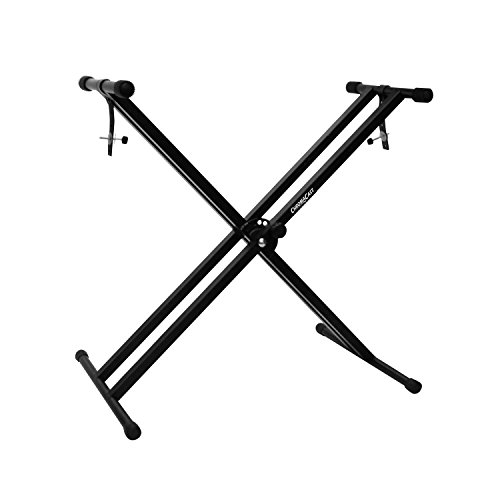 ChromaCast CC-KSTAND Double Braced X-Style Pro Series Keyboard Stand with Locking...