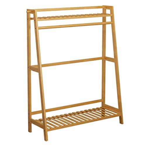 Kapstok Trapezium Kapstok Free Standing Wood Hanger (hout Color) (Maat: 70cm) LQH (Size : 70cm)