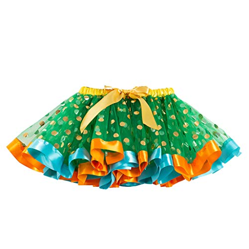 Amphia Mädchen Tüllrock,Tütü Rock Kostüm/Ballettrock Tanzkleid/Paillette Tütü - Mädchen Kinder Tutu Party Dance Ballett Kleinkind Baby Kostüm Dot Print Röcke Kleidung
