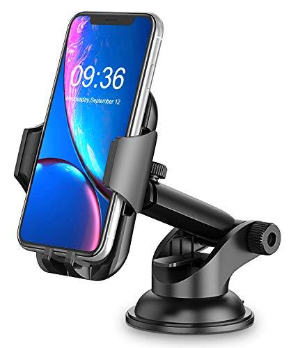 Cocoda Handyhalterung Auto, Armaturenbrett/Windschutzscheiben KFZ Handy Halterung, 360° Drehbar Ausziehbarer Arm Schnelle Freigabe, Handyhalter Auto Kompatibel mit iPhone 11 Pro Max/XS Max/XR/X/8