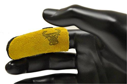 G & F 8126s piel vacuna Pulgar Guardia, Pulgar protección, pequeño, Guardia de dedo se vende por separado, 8128M, Protector para dedos, Tan Brown/Tan