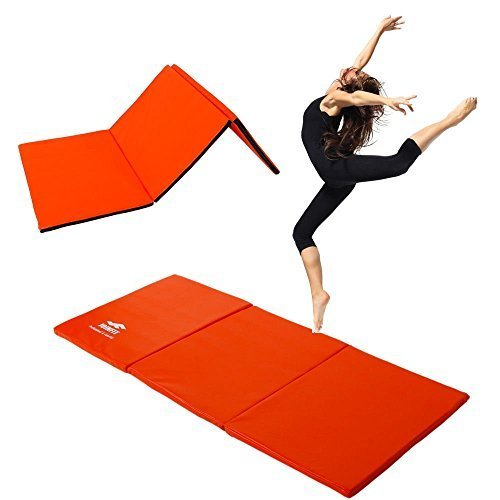 Thick Folding Panel Gymnastics Mat Gym Fitness Exercise Stretching Yoga Tumbling by Unbranded