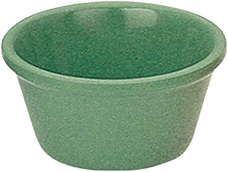 Yanco NC 536GR Mile Stone Smooth Ramekin 2 OZ Capacity 1 25 Height 2 75 Diameter Melamine Green Color Pack Of 72