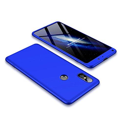 FaLiAng XiaoMi Mi Mix 2S Hülle, 3 in 1 Abnehmbare Anti-Kratzer Hart PC Handyhülle, 360° Full Body Stoßfest Schutzhülle für XiaoMi Mi Mix 2S (Blau)