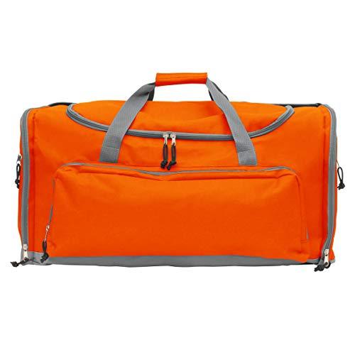 Projects Sporttasche 'Carribean' aus 600D Polyester - Premium Qualität - universell einsetzbar für Gym, Fitness, Fussball, Sauna - Schultergurt - Tasche für Männer, Frauen & Kinder (orange)