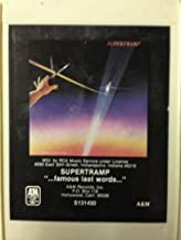 SUPERTRAMP Famous Last Words 8 Track tape